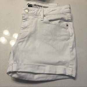 White Gap Girlfriend Shorts